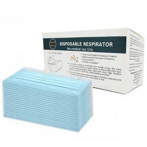 1 (50pk) Box of Disposable 3PLY Face Masks